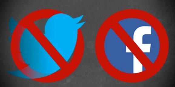 Twitter ve Facebook için kapatma kararı