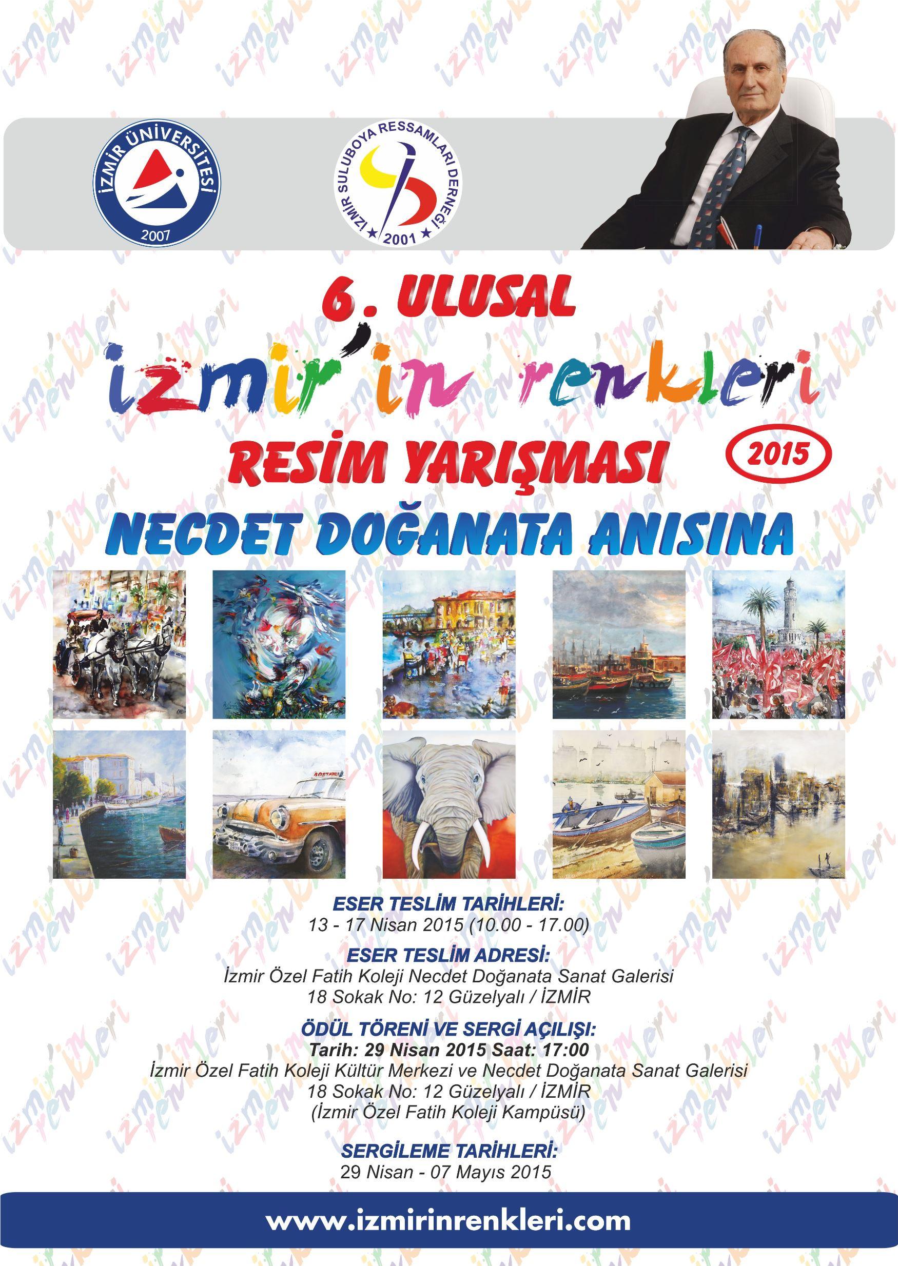 6. Ulusal İzmir'in Renkleri Resim Yarışması heyecanı başlıyor