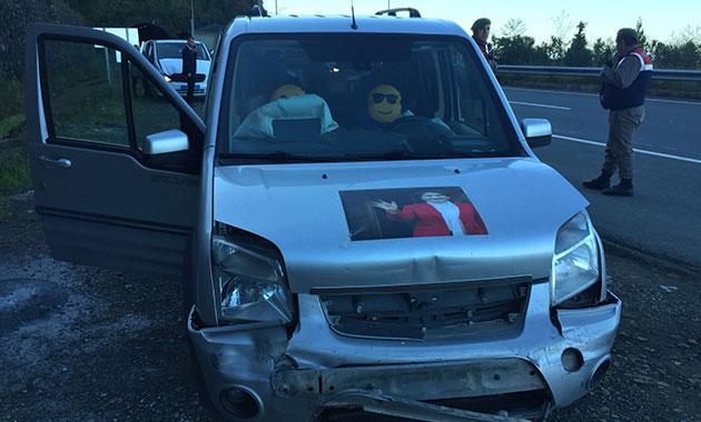 İYİ PARTİ konvoyunda kaza