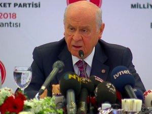 Bahçeli: MHP cumhurbaşkanlığı adayı göstermeyecektir