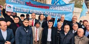 İYİ Partililer Uygur Türkleri için toplandı