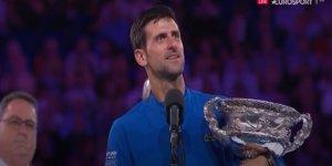 Avustralya Açık tek erkekler finalinde şampiyon Novak Djokovic