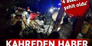 İstanbul Çekmeköy'de helikopter düştü! Dört asker şehit!