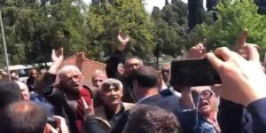 İYİ Partili Çelik'ten Raci Tetik'in cenazesinde protesto