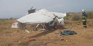 Antalya'da eğitim uçağı düştü! 2 ölü, 1 yaralı