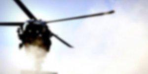 Suriye ordusuna ait bir askeri helikopteri düşürüldü.
